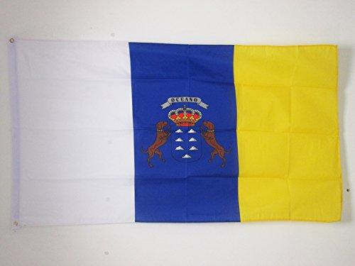 AZ FLAG Bandera de CANARIAS 150x90cm - Bandera Canaria 90 x 150 cm