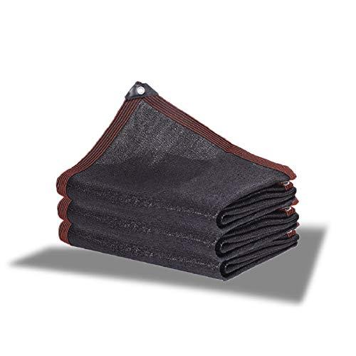 AWSAD Malla Sombreo Red De Sombra Protección UV Malla Sombreadora Red De Sombra Engrosada Cifrada para Exteriores Patio Red para Jardín O Planta (Color : Negro, Size : 4x5m)