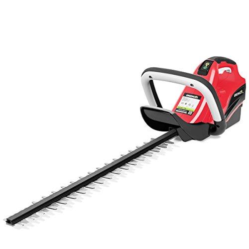 GREENCUT GHT400L - Cortasetos de bateria de litio 40V para 2,0Ah/4,0Ah con cuchilla giratoria de 63cm
