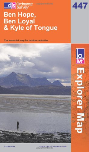 OS Explorer map 447 : Ben Hope, Ben Loyal & Kyle of Tongue