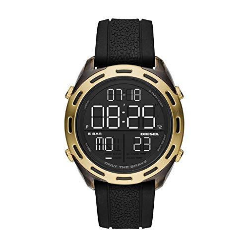 Diesel Herren-Uhren Analog Quarz One Size Schwarz Silikon 32010668