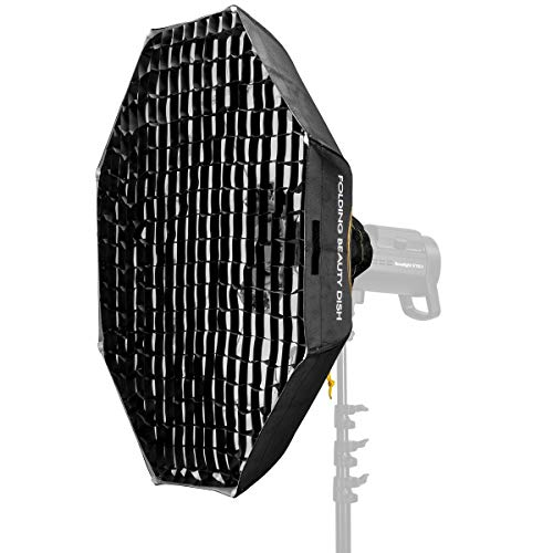 """Glow Foldable Beauty Dish with Bowens Mount and Removable Grid (White, 40"""")"""