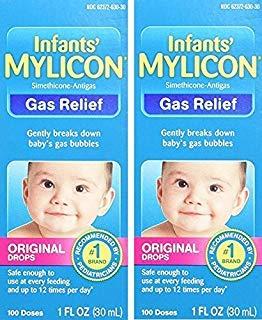 Mylicon Infant Gas Relief Drops Original Formula 1 oz (2 Pack)