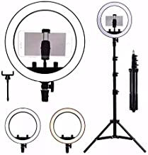 Kit Completo Ring Light Com Tripé Dimmer Youtuber Selfie