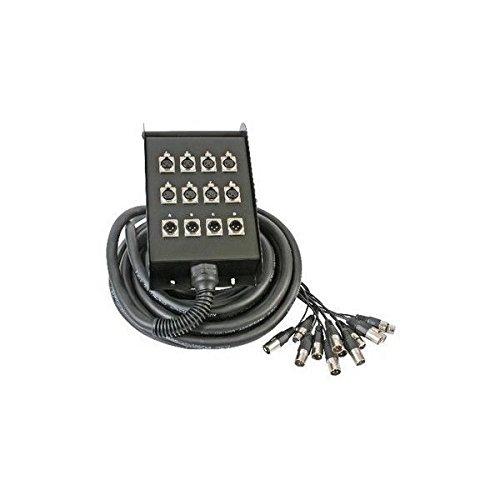 Stellar Labs 8 Send / 4 Return 131 Ft XLR Cable Snake with Headphones