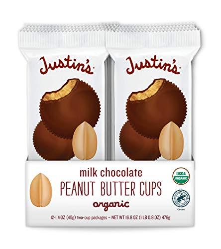 Justin's Organic Milk Chocolate Peanut Butter Cups, Rainforest...