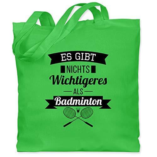 Sonstige Sportarten - Es gibt nichts Wichtigeres als Badminton - Unisize - Hellgrün - XT600_Jutebeutel_lang - WM101 - Stoffbeutel aus Baumwolle Jutebeutel lange Henkel