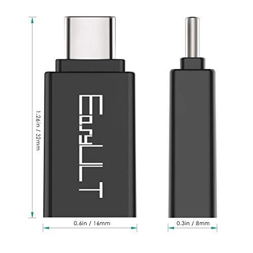 EasyULT USB C Adapter auf USB 3.0[4 Stück], OTG USB Typ C Adapter, Thunderbolt 3 to USB 3.1, Kompatibel mit MacBook Pro 2019/Air 2020,Samsung Galaxy,Surface Go und Andere Geräte mit USB-C(Schwarz)