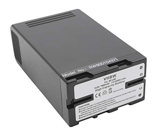 vhbw Li-Ion batteria 7800mAh (14.8V) con infochip per telecamera videocamera camcorder Sony PXW-FS5, PXW-FS5K sostituisce BP-U30, BP-U60.