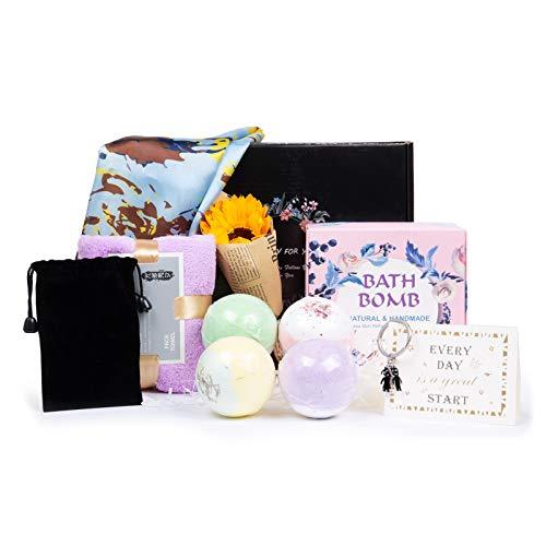 Jewelora Bombe da bagno Set regalo per donna Home Spa Bubble Cesti regalo Palline di sale da bagno...