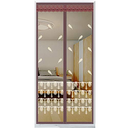 "G&F Mantener Insectos Fuera Puerta Magnética con Mosquitera Malla Súper Fina Mantenga Aire Fresco Adentro Verano Adapta Tamaño Puerta hasta 39""X 83"" Máx (Color : A, Size : 80x220cm(31x87inch))"