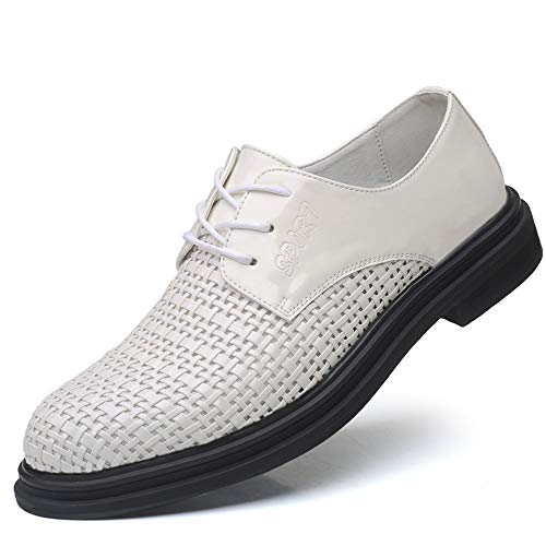 Heren Hollow Business Formele Lederen Schoenen Effen Kleur Lage Hak Slip Wild Trend Gat Schoenen Sandalen Enkele Schoenen.