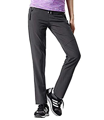 Aygience Hiking Pants Women Outdoor Quick Drying Mountain Trousers Lightweight Travel Pants with Pockets Dark Grey L