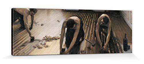 1art1 Gustave Caillebotte - Die Parkettschleifer, 1875 Bilder Leinwand-Bild Auf Keilrahmen | XXL-Wandbild Poster Kunstdruck Als Leinwandbild 150 x 50 cm