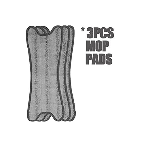 Demacia Musen Microfibra Plana Pads Pads Papel Limpieza REEMPLAZO PRÁCTICO Cocina DE Cocina PUILLO LIMPIENTE Limpiar RAPS Reusable Ajuste para PAZA DE MOP Spray MS (Color : 3 pcs for X Type mop)