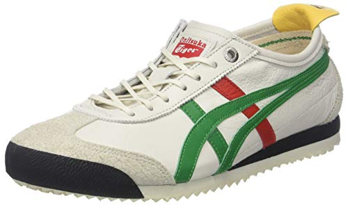 Asics Onitsuka Tiger Mexico 66 SD, Zapatillas Unisex Adulto, Multicolor (Cream/Green 100), 42 EU
