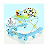 CJW-LC Andador con Freno, Andadores para Bebé De Altura Ajustable, Andador para Bebé Plegable Antivuelco, con 8 Rueda Ordinaria, para Niñas Niños De 6 A 18 Meses,E