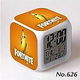 フォートナイト ピーリー 7色イルミネーション デジタル 目覚し時計 アラーム