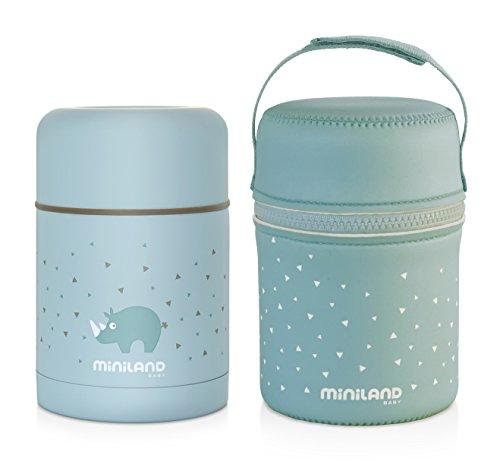 Miniland Isolierbehälter 600ml für Babynahrung - SILKY FOOD THERMOS AZURE