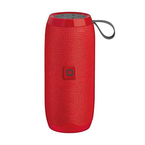 SBS Speaker JAM wireless stereo 10W, tasti multifunzione, funzione vivavoce, lettore SD/TF Card, ingresso AUX, entrata USB per collegare chiavetta, rivestito in tessuto, colore rosso