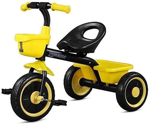GPWDSN kindertrike driewieler fietstocht op fiets 2-5 jaar nieuw, 58cm (kleur: rood)
