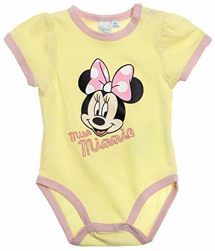 Body bébé fille manches courtes Miss Minnie jaune 6mois
