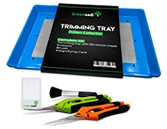 ☁Small and portable, transform any chair into a trimming station with our trim tray; Ideal for both smaller residential spaces and large commercial operations 🌱This tray is designed to increase performance during the processing and manicuring stages ...
