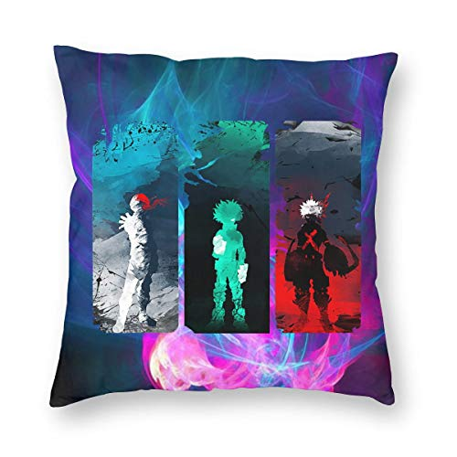 TIERA BENDER My Hero Academia Cushion Cover Throw Pillow Cover Durable Pillow Case Square Home Decoration Gift 18'' X18