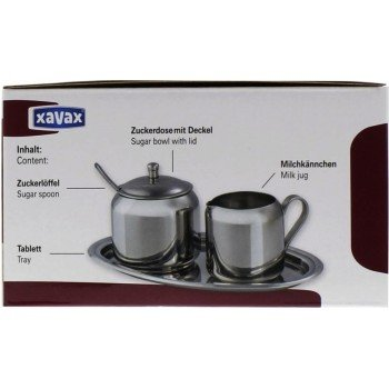 Conny Clever Xavax Milch- und Zucker-Set aus Edelstahl, 3-teilig