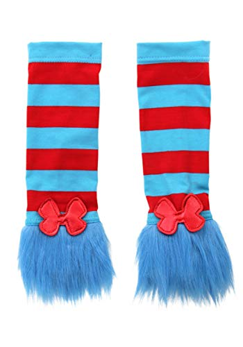 Dr. Seuss Cat in the Hat Thing 1 & Thing 2 Costume Accessory Arm Warmers for women and teens