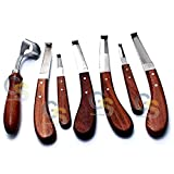 G.S HOOF Knife Set 7 HOOF Knives Wide & Narrow Blade...