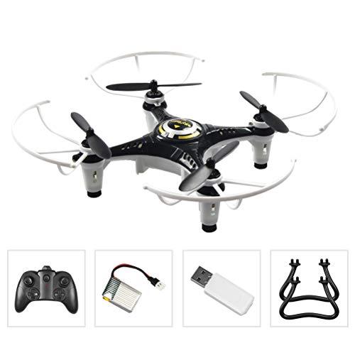 Creacom Mini Drone Drone Tascabile Piccolo, Mini Drone Drone Tascabile Piccolo 2.4G 6 Assi giroscopio Senza Testa One Key Ritorno RC Quadricottero Nero