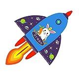 GFFTYX Kite - 2 tamaños de Dibujos Animados Lindo Kite de Cohete, Brisa fácil de Volar, Gran Juguete de Kite al Aire Libre para Principiantes (Color : M, Size : Line Length: 500m)