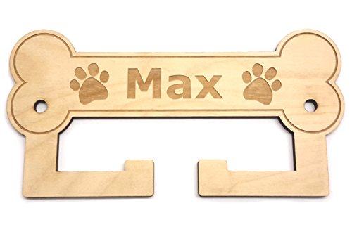 Origin - Soporte para perros personalizable para perros (montaje en pared, regalo para amantes de perros, soporta varias correas de perro, hecho de madera contrachapada sostenible