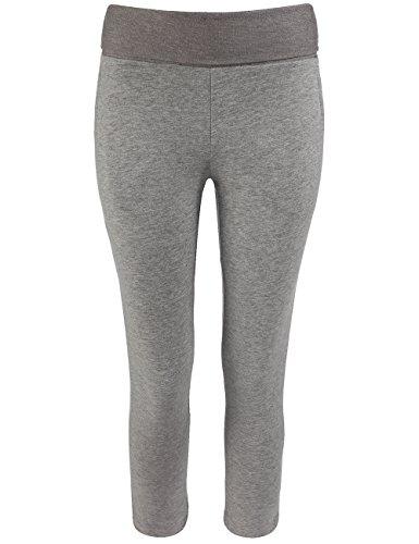 Bench Mädchen Sport Legging Sweathose Twopenny grau (Grey Marl) 13-14