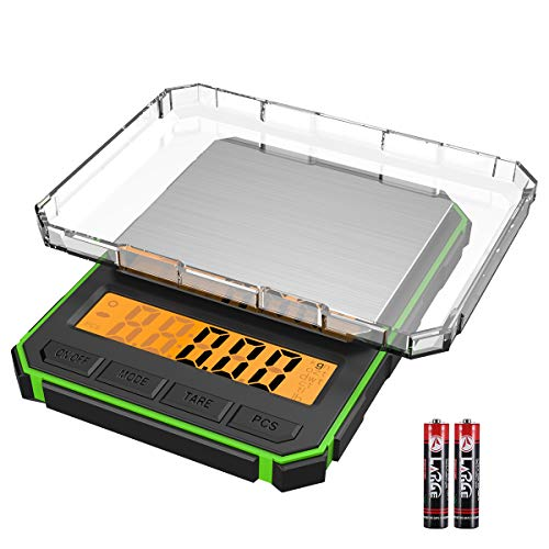 (Upgraded) Brifit Digital Mini Scale, 1.1lbs 500g Max Pocket Sized Jewelry Scale, Greater Accurate Multi-Function Back-Lit LCD, Electronic Smart Scale (Battery Included)