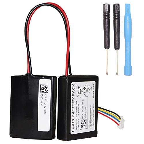 for Beats Pill 2.0 Speaker OEM Battery Kratax 1050mAh Li-ion 7.4 V Replacement Battery for Beats Pill 2.0 J272/ICP092941SH Wireless Portable Bluetooth Speaker