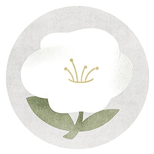 Vloerkleden Ronde Area Tapijten Camellia Patroon Tapijt Handleiding Selvedge Non-slip Bodem Vloer Mat Voor Woonkamer…