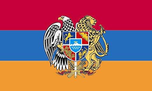 U24 Flagge Fahne Armenien mit Wappen 90 x 150 cm