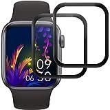 RIIMUHIR Cristal Templado para Apple Watch Series 6/5/4/SE 40mm, [2 Piezas] Protector de Pantalla para iWatch Series 6/5 40mm, Anti-Scratches, Vidrio Templado, Sin Burbujas, Alta Definición