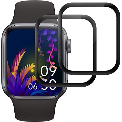 RIIMUHIR Panzerglas Schutzfolie für Apple Watch Series 6/5/4/SE 40mm, [2 Stück] Displayschutzfolie für iWatch Series 5/4 40mm, HD Klar Panzerglasfolie, Anti-Kratzen, 9H Härte, Anti-Bläschen