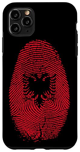 iPhone 11 Pro Max Albania Flag Fingerprint It is in my DNA Gift for Albanians Case