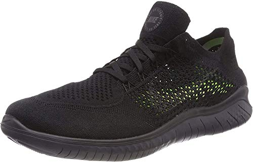 Nike Mens Free RN Flyknit 2018 Running Shoes (9.5) Black/Anthracite
