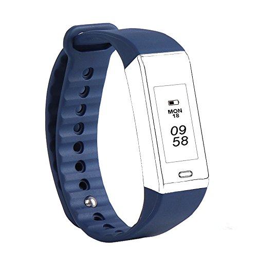 F40C4TPM Austauschbare Slim Smartwatch Strap Länge Einstellbar Ersatz Armband Armband Sport Zubehör für Fitness Tracker Pulsmesser (Blau)