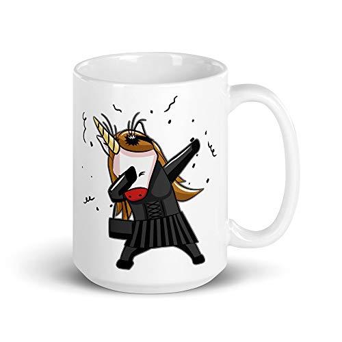 Dabbing Gothic Unicorn | Grappig koffiekopje | Zwarte Dab Goth Unicorn | Cadeau voor kinderen Batcaver Gothics | Eenhoorns Fans