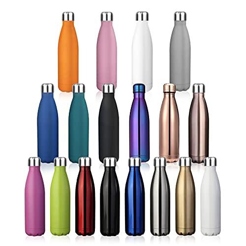 king do way Botella de Agua de Acero Inoxidable con Aislamiento de Doble Pared 500ML, Adecuado para Bebidas Frías y Bebidas Calientes (Morado)