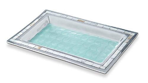 Julia Knight Bath Collection Vanity Tray, One Size, Aqua