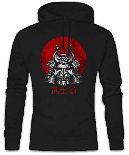 Urban Backwoods Bushido Samurai I Hoodie Kapuzenpullover Sweatshirt Schwarz Größe XL