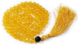 Zoya Gems & Jewellery Mala Necklace, Yellow jade Lava Guru Bead with Lava Beads Bracelet, Tibetan quartz , Tibetan Beads P...