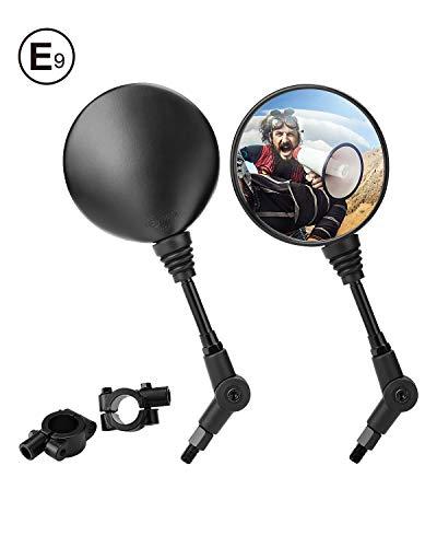 Espejos Laterales con Abrazadera 7/8'' Retrovisores Moto 10mm Homologado Universal